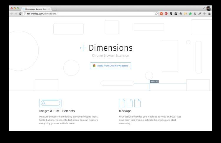 Dimensions Chrome Screen