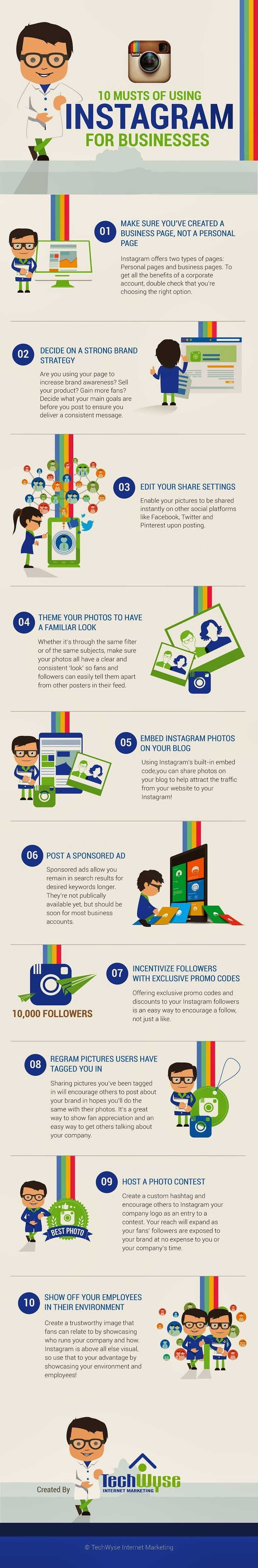 10 Musts of Using Instagram