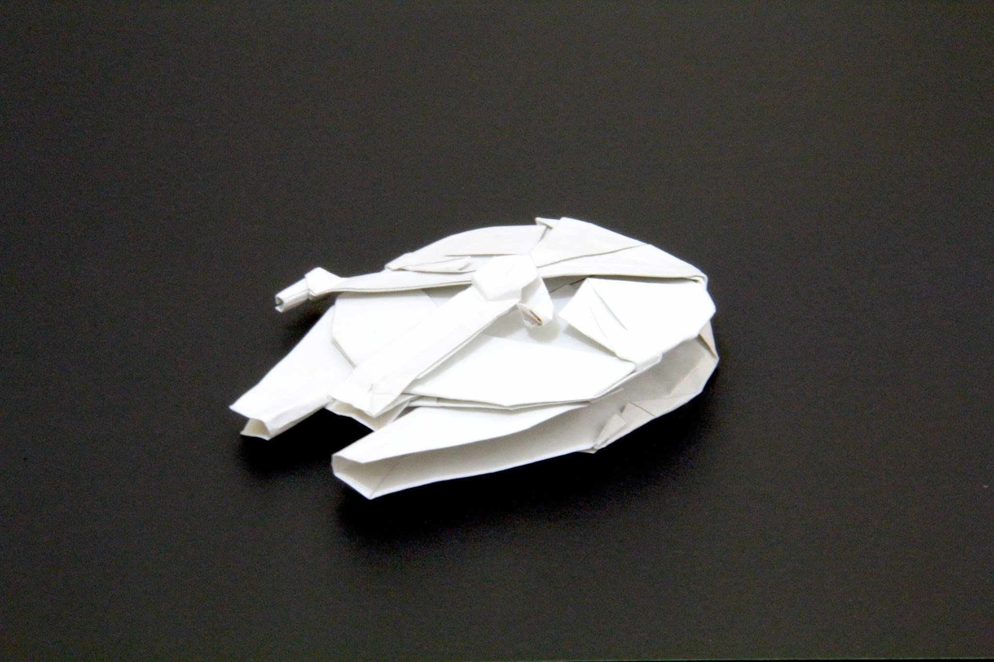 How to Make the Millennium Falcon in Origami [Infographic ... - photo#7