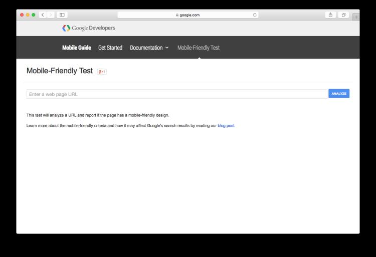 Google Webmaster Screen