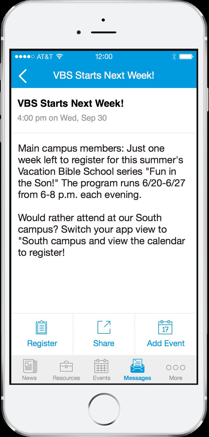 message-screen