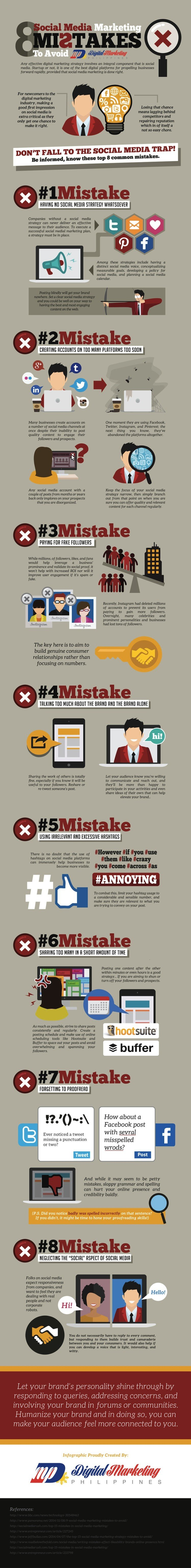 8 Social Media Mistakes to Avoid [Infographic]