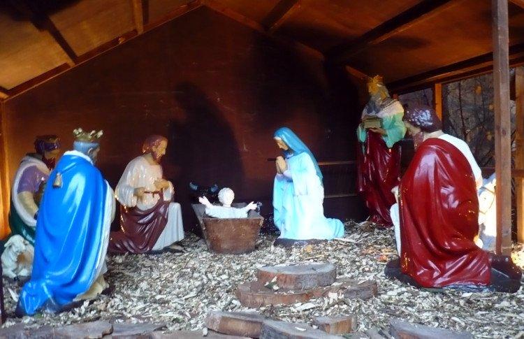 outdoor manger scene - image