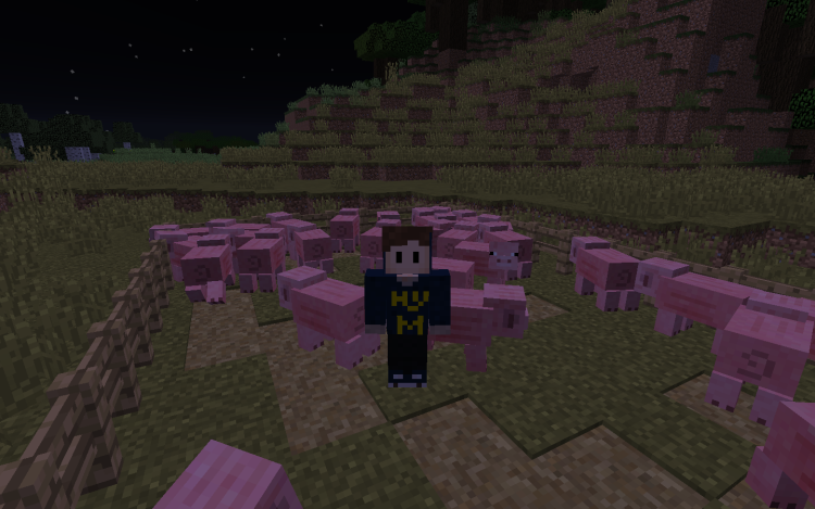 MC Living with pigs