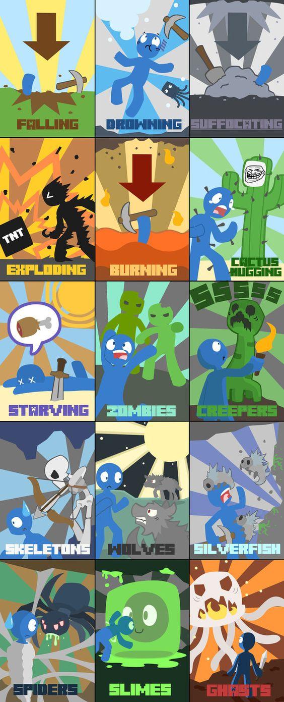 Minecraft Death Poster [Image]