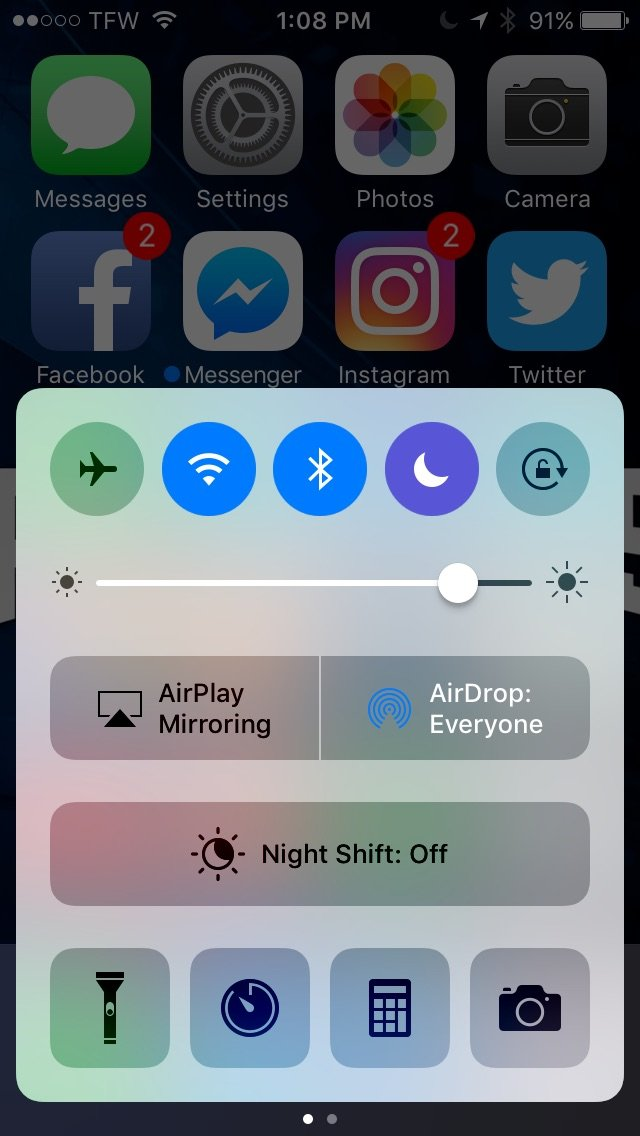 Airdrop on iPhone