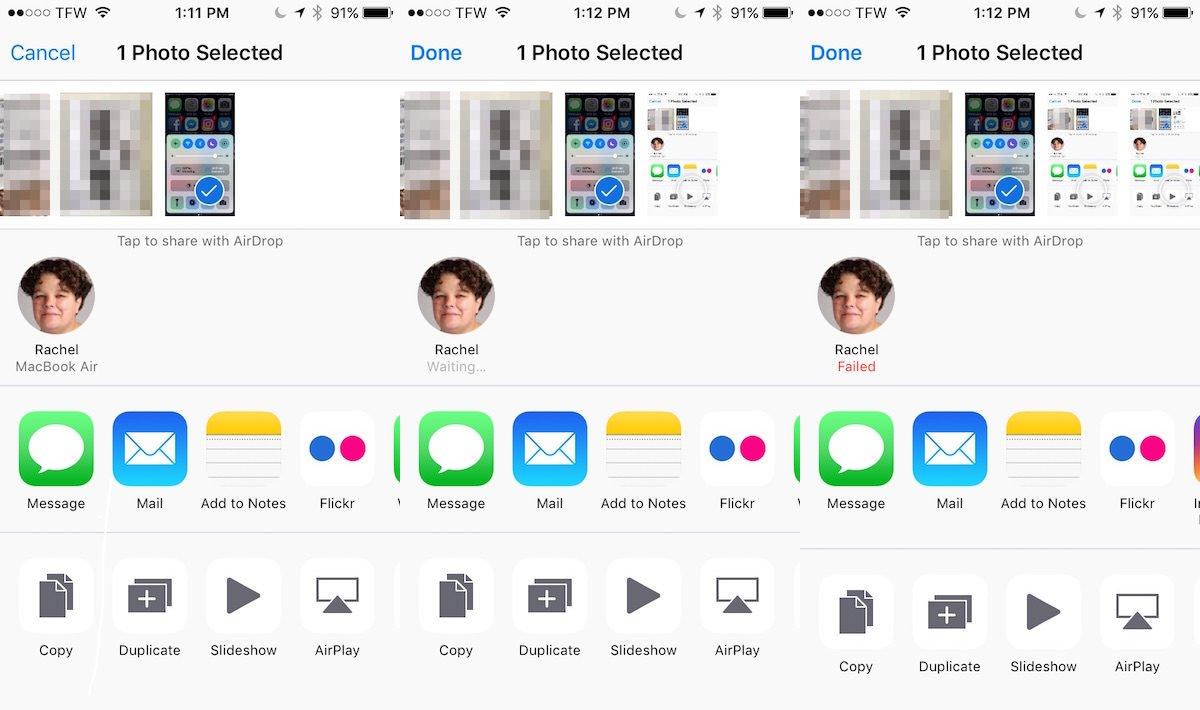 airdrop screenshots
