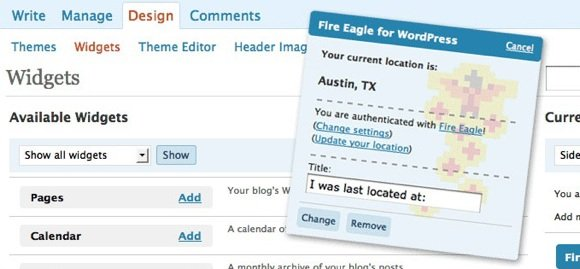 fireeagle_for_wordpress