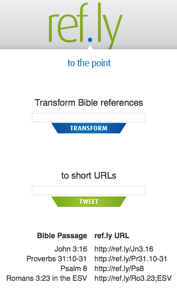 Ref.ly – URL Shortener for Scripture