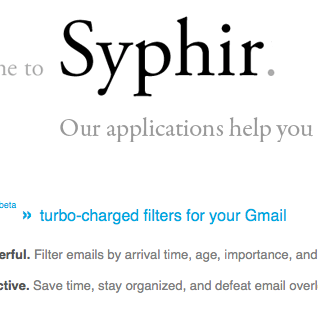 Defeat Email Overload with Syphir