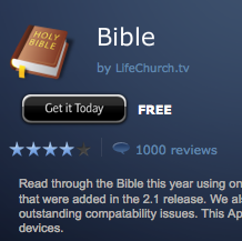 YouVersion for BlackBerry Hits 1,000 Reviews, Top 5 Free App