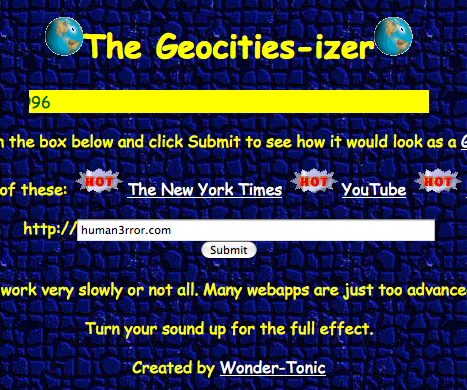 Throwback: Make Your Site Like Geocities!