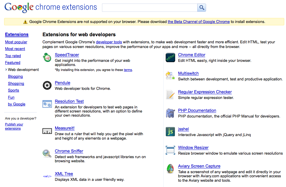 Top 10 google chrome extensions august 2010.