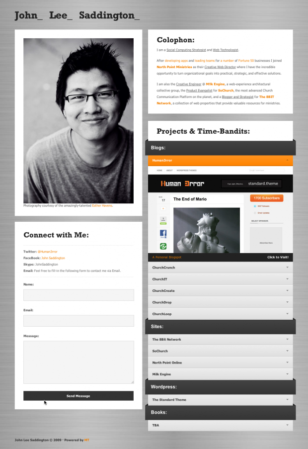 Download My Old Personal Landing Page Template ChurchMag - Personal landing page template