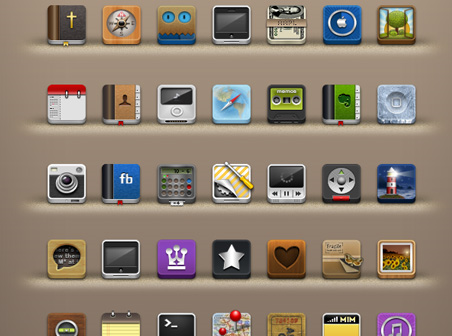 I Came Across This Set And Had To Bookmark It The Includes 40 Some Odd Icons Including Wallpaper Page Indicators More
