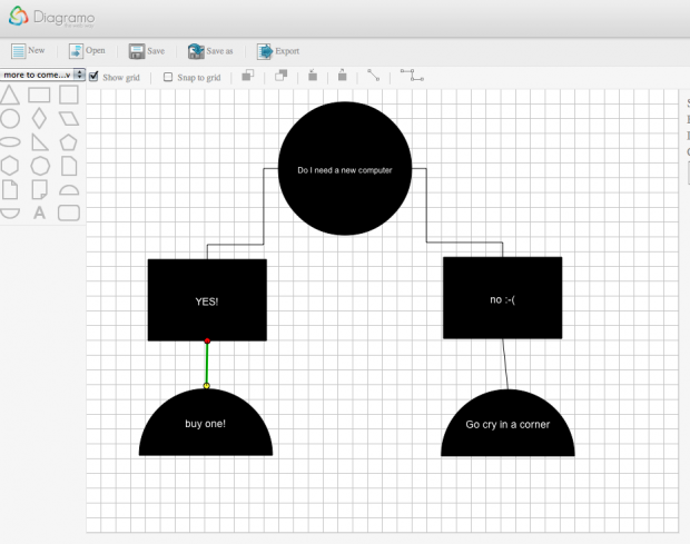 Diagramo Html5 Web Based Diagram And Flowchart Editor Churchmag