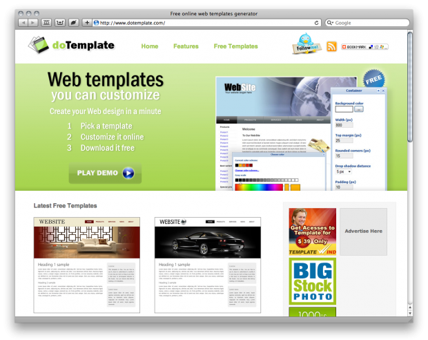 dotemplate lets you pick a template customize it and then download it for free and for your use within minutes they arent the best things on the planet - Free Church Website Templates