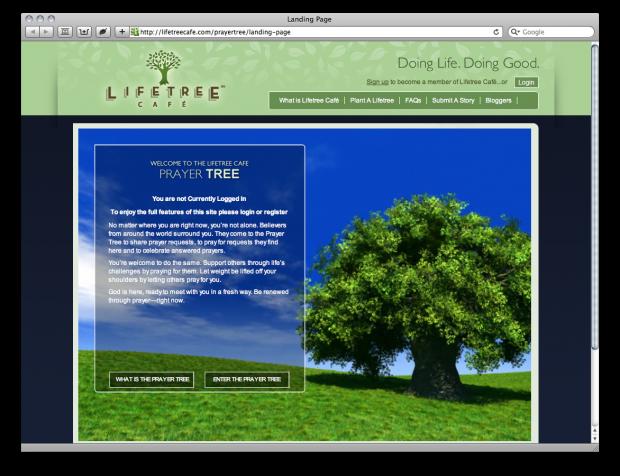 Life Tree Cafe and The Prayer Tree [Flash] - ChurchMag