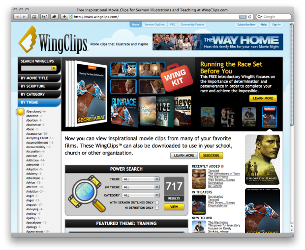 free movie clips licensed for churches churchmag