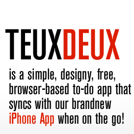TeuxDeux: The Simplest (and Prettiest) GTD Out There