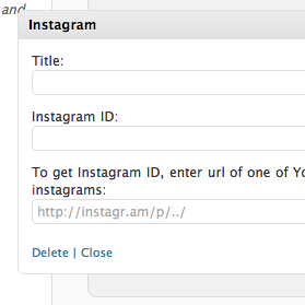 Instagram for WordPress Plugin