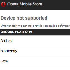 Opera Mobile Store Opens