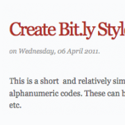 Create Your Own URL Shorteners with PHP