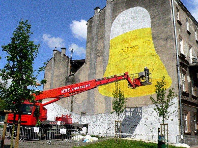 Blu Paints Big in Krakow