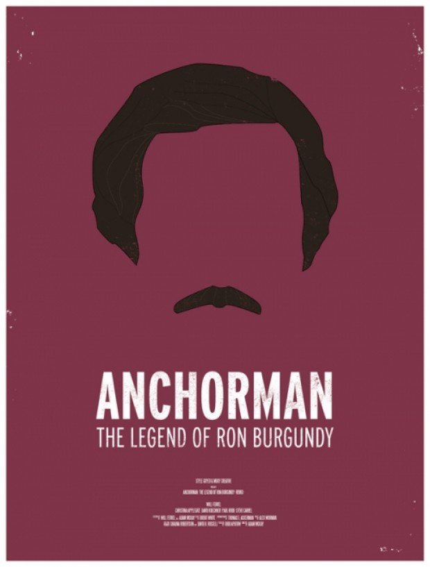 Anchorman Minimalist Poster