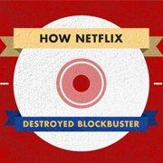 How Netflix Destroyed Blockbuster [Infographic]
