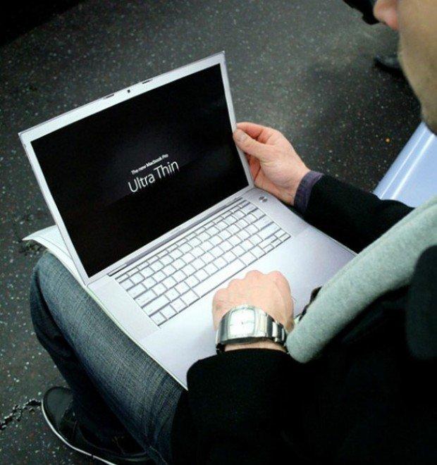 Mac Book Pro Ultra Thin Advertisement