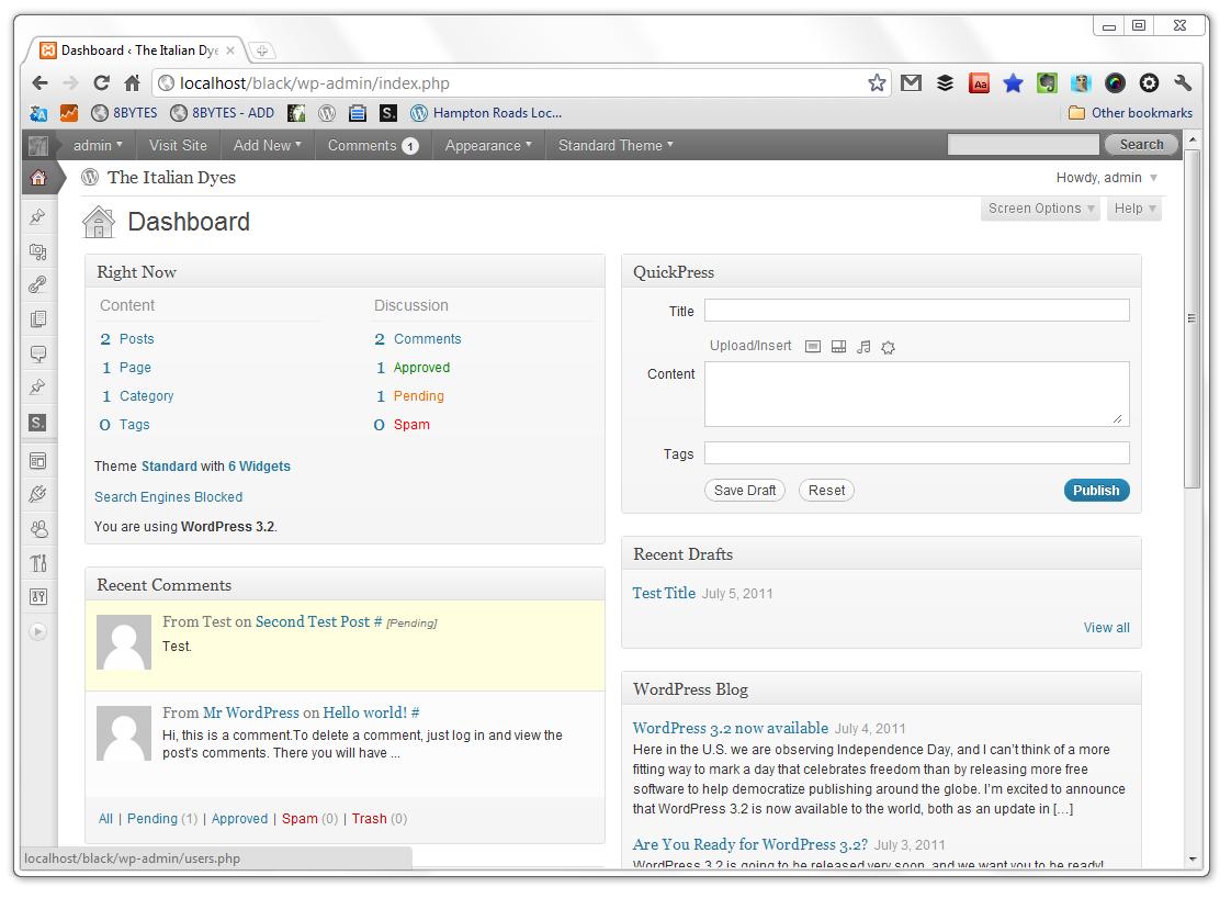 It's Here: WordPress 3.2