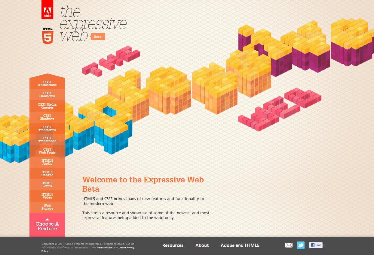 Expressive Web Beta: HTML5 & CSS3 Resource & Showcase
