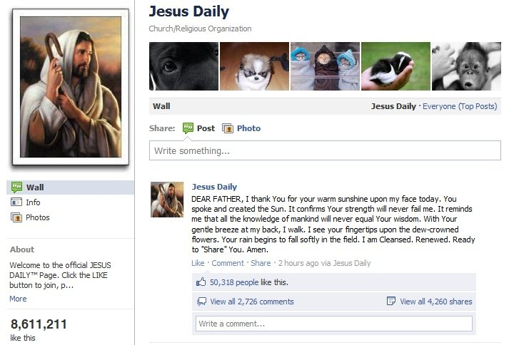 Jesus Daily on Facebook