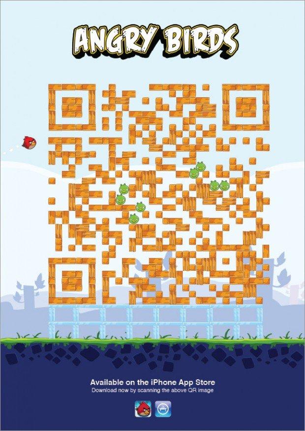 Creative Mobile QR Code Ads