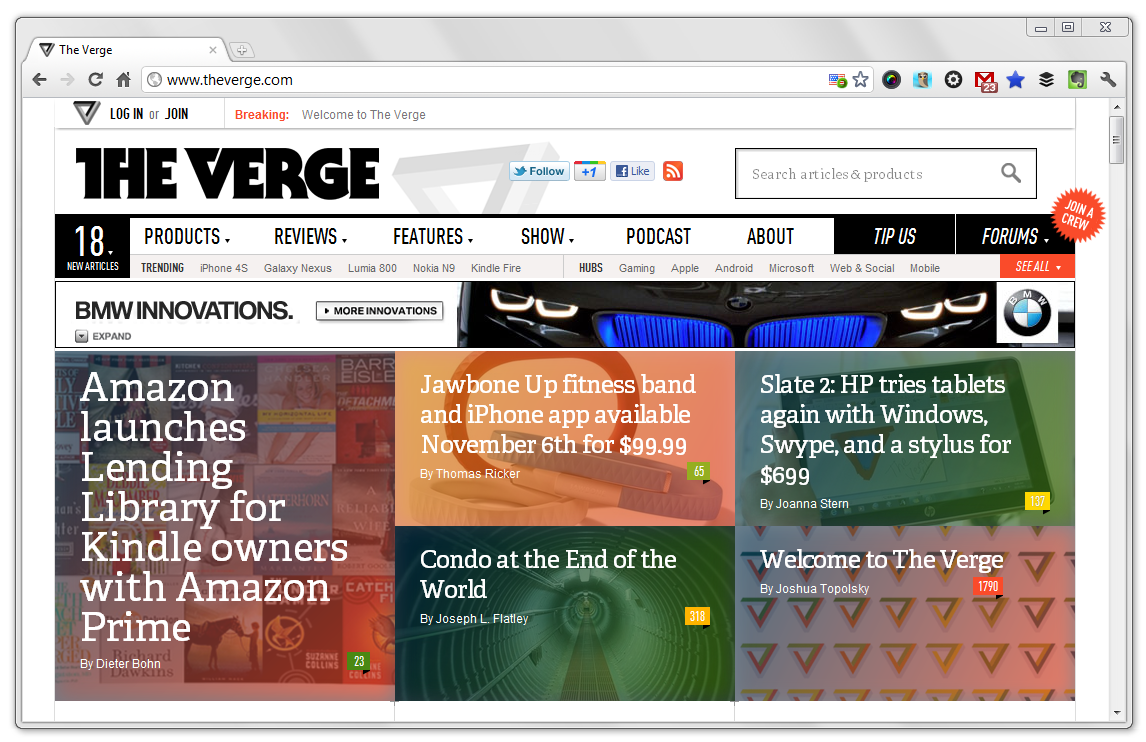 'The Verge' Launches