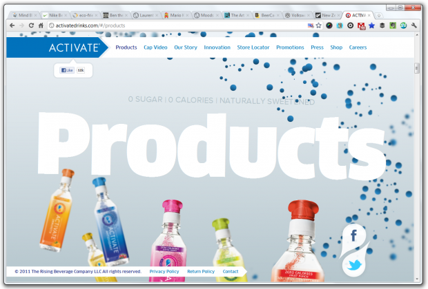 parallax scrolling activate drinks