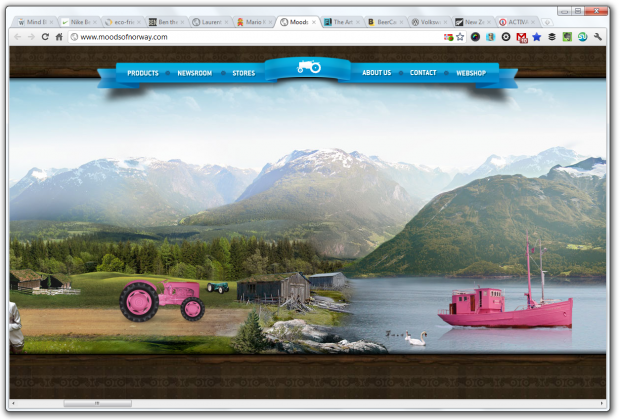 parallax scrolling moods of norway
