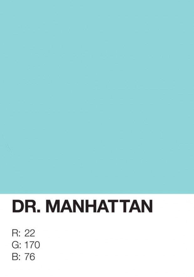 pantone superhero dr. manhattan