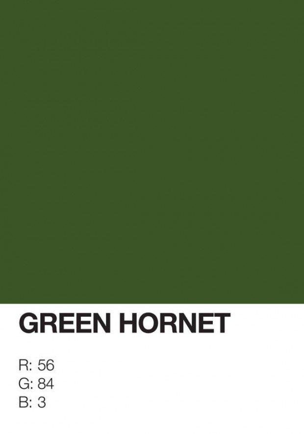 pantone superhero green hornet