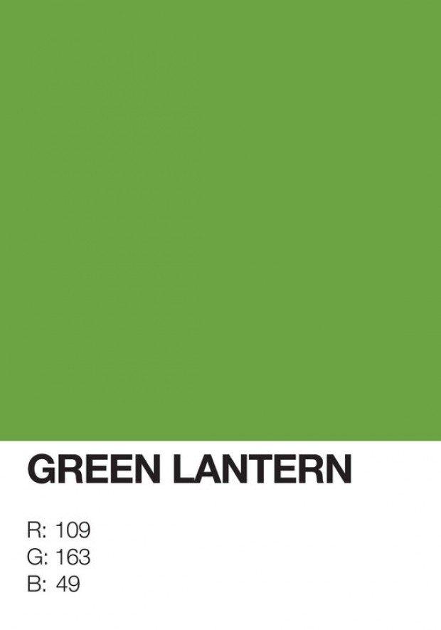 pantone superhero green lantern