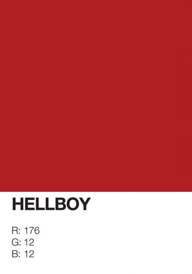 pantone superhero hellboy