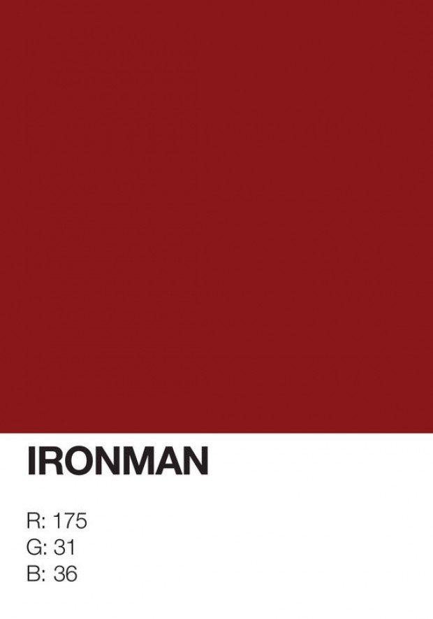 pantone superhero ironman