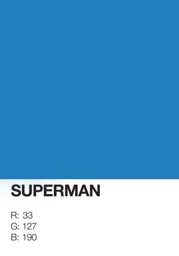 pantone superhero superman