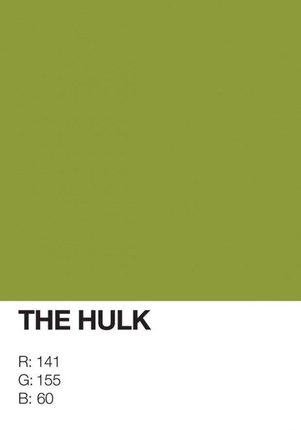 pantone superhero the hulk
