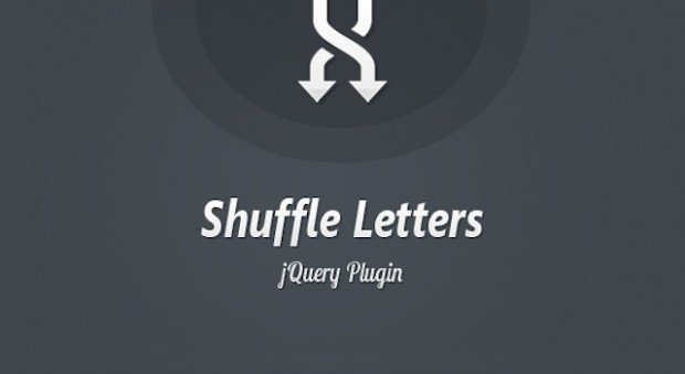 Shuffle Letters Effect jquery plugin
