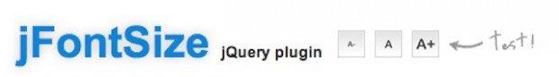 jFontSize jquery plugin