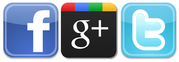 social media icons facebook twitter google plus