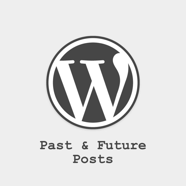 Past & Future WordPress Posts