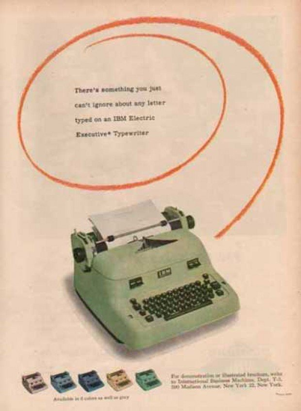 vintage computer ads 1940s ibm electric typewriter